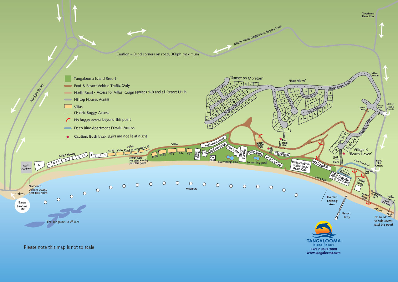 Tangalooma Island Resort Map